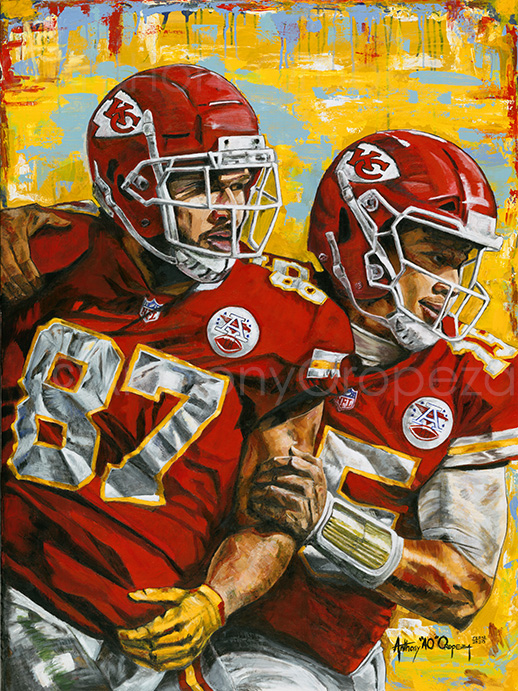 Sports Paintings (KC Royals & KC Chiefs), Comic Book Paintings, School Visits